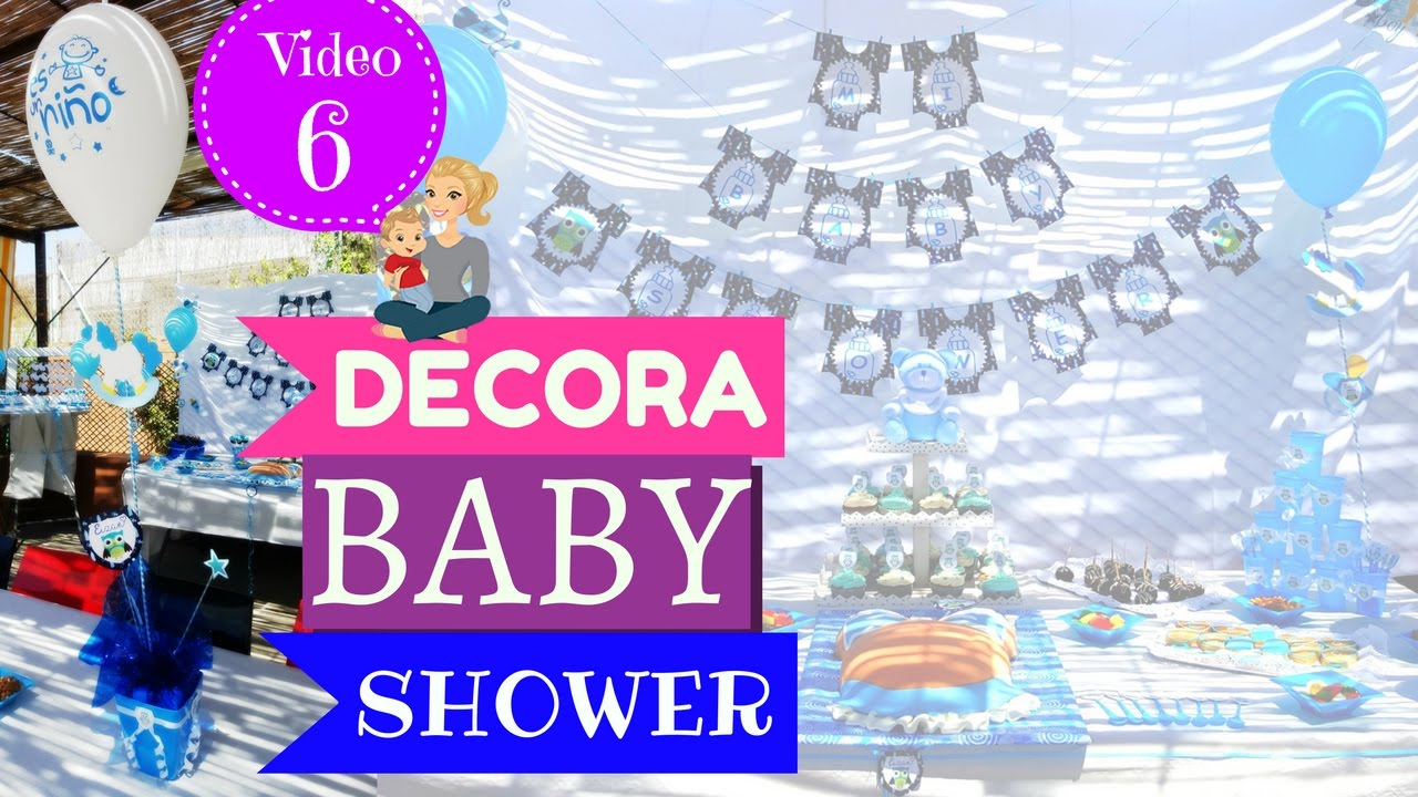 ideas para decorar baby shower nio centro de mesa baby shower youtube