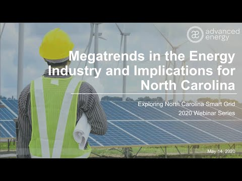 Megatrends in the Energy Industry and Implications for North Carolina Webinar