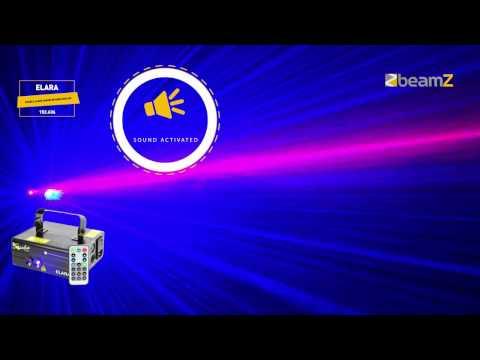 BeamZ Elara Double Laser 300mW RB Gobo DMX IRC 152.636
