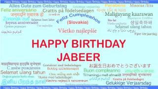 Jabeer   Languages Idiomas - Happy Birthday