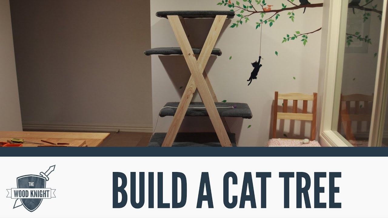 068 how to make a cat tree with the wood dame youtube