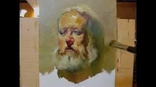 """Bob"" 100 minutes live painting demo by Zimou Tan"
