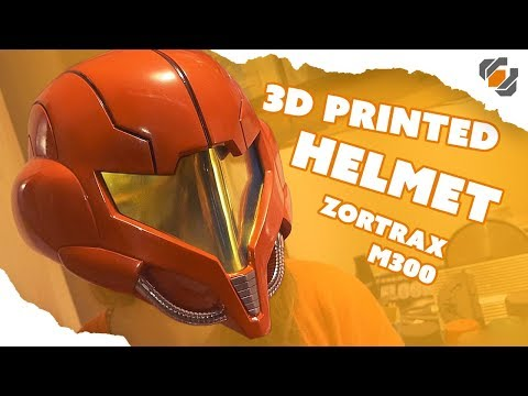 3D Printing a Samus Metroid Helmet - Zortrax M300
