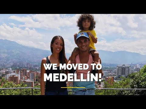 MOVING TO COLOMBIA FROM THE US // FIRST DAY IN MEDELLÍN, COLOMBIA - La Familia Golden Family Vlog