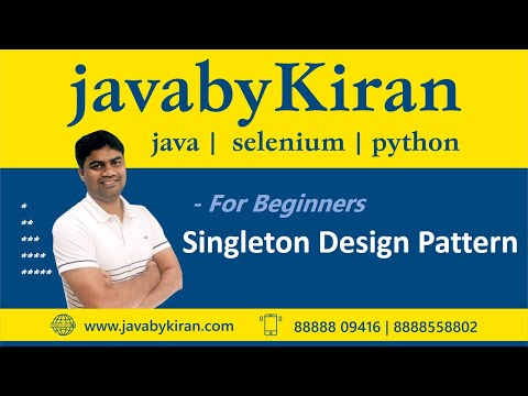 Singleton Design Pattern-By Kiran Sir-JAVA By Kiran,Pune