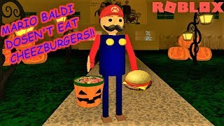 PLAY AS MARIO BALDI!! | The Weird Side of Roblox: Baldi's Basics RP