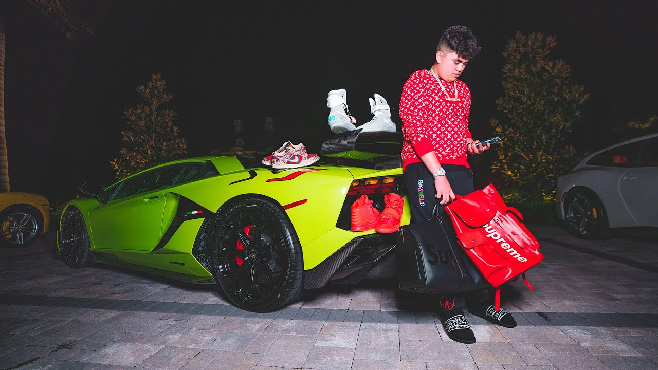 14 year old Billionaire Shows $20,000,000 Car + Sneaker Collection...