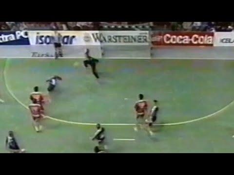 Quintin y Stoecklin, marean a Matosevic. Mundial ISL-1995. FRA-CRO. Final. Reikiavik (ISL)