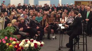 Phillip Phillips sings at Steven McDonald wake