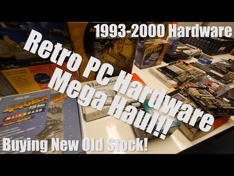 [SPECIAL] Mega Retro PC Hardware Haul!! Our adventure of buying brand new old stock 1993-2000 parts!