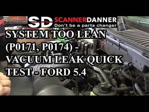 System Too Lean (P0171, P0174) - Vacuum Leak Quick Test - Ford 5.4