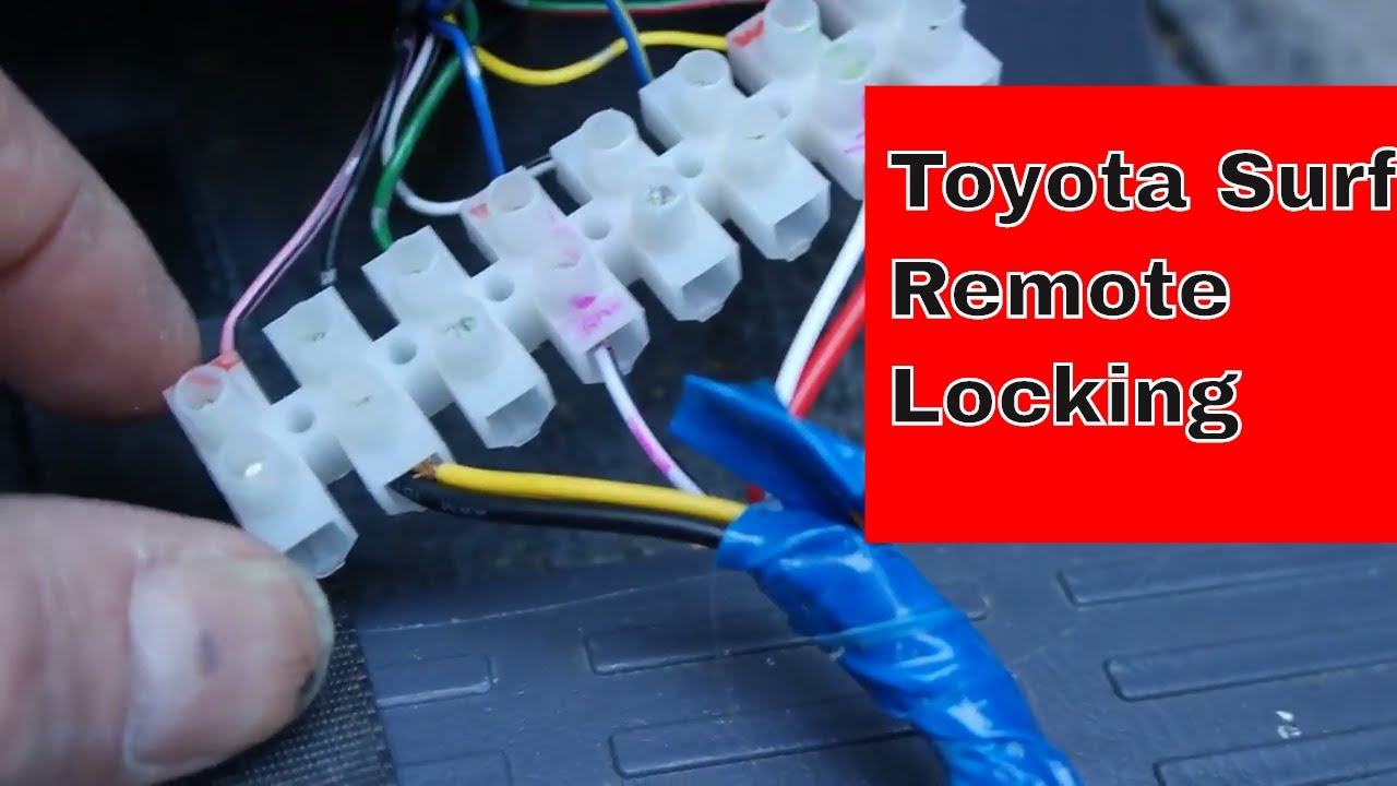 small resolution of toyota surf remote locking