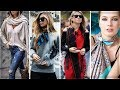 HOW TO WEAR A SCARF WITH OUTFIT IDEAS | TRANDY FASHION 2018