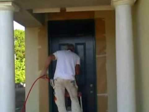 Spray Painting A Front Door Joe Pullaro Paint Contractor Youtube