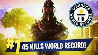 BATE O WORLD RECORD 45 KILLS SOLO VS SQUADS HAHAHA FORTNITE