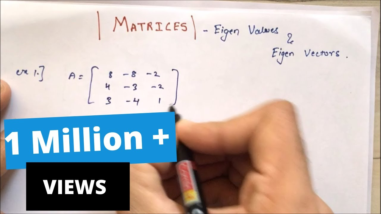 Download Eigen Values and Eigen Vectors in HINDI { 2021} | Matrices