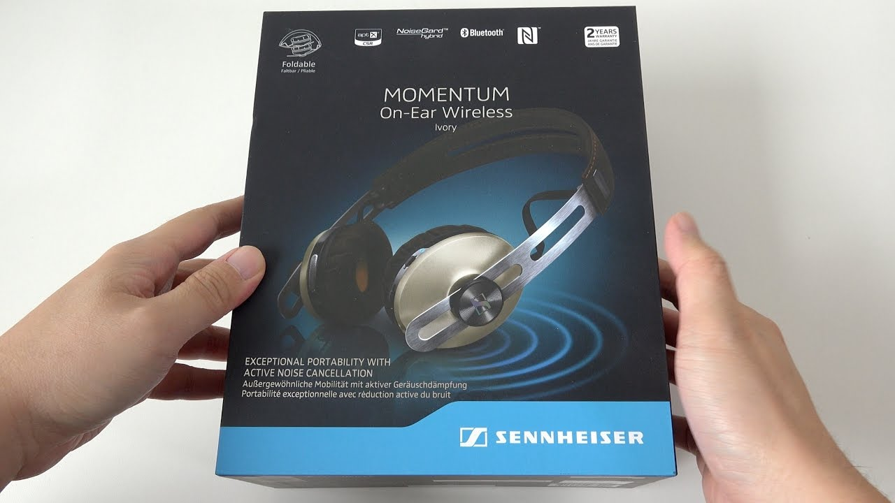 Sennheiser Momentum 20 On Ear Wireless Headphones Ivory Unboxing 2i Black