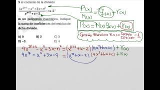 Algoritmo de la División en Polinomios