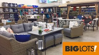 big lots patio furniture chairs tables summer home decor shop with me shopping store walk through 4k