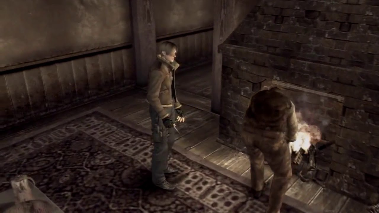 RE4 but with the stand-in voice tracks