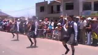 Estado mayor pide permiso I.E. 21544 H.Z.G.La Villa Sayan desfile de aniversario 2014 Evelyne Jara