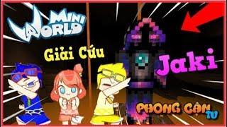 Mini World Bộ 3 Bá Đạo cùng đi giải cứu youtuber Jaki natsumi trong mini world | Phong Cận Tv