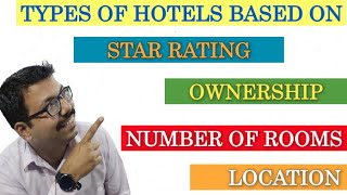 Classification Of Hotel II Star Rating II Ownership II Location II Size of Rooms