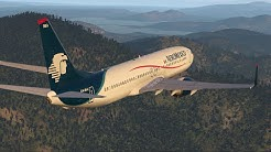 X-Plane 11. Landing in Airport surrounded by mountains.