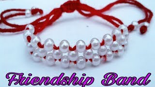 Pearl Bracelet/ Friendship Band/How to make Bracelet/Friendship Bracelet Making/Bracelets