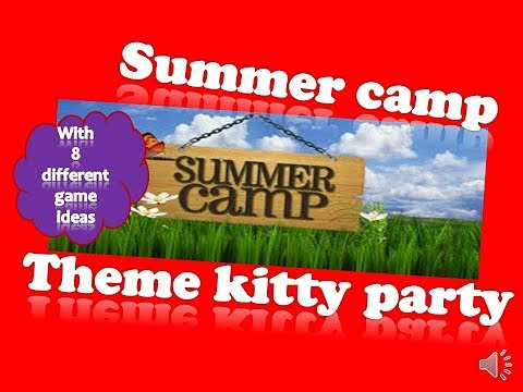 8 Incredible Summer Theme Kitty Party Ideas And Games // Childhood Theme Party Games