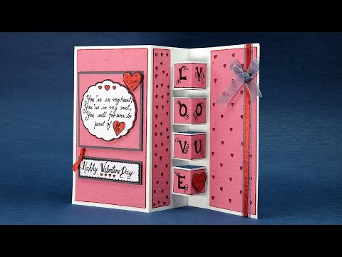 Pop Up Love Card - Happy Valentines Day Card Step By Step Tutorial