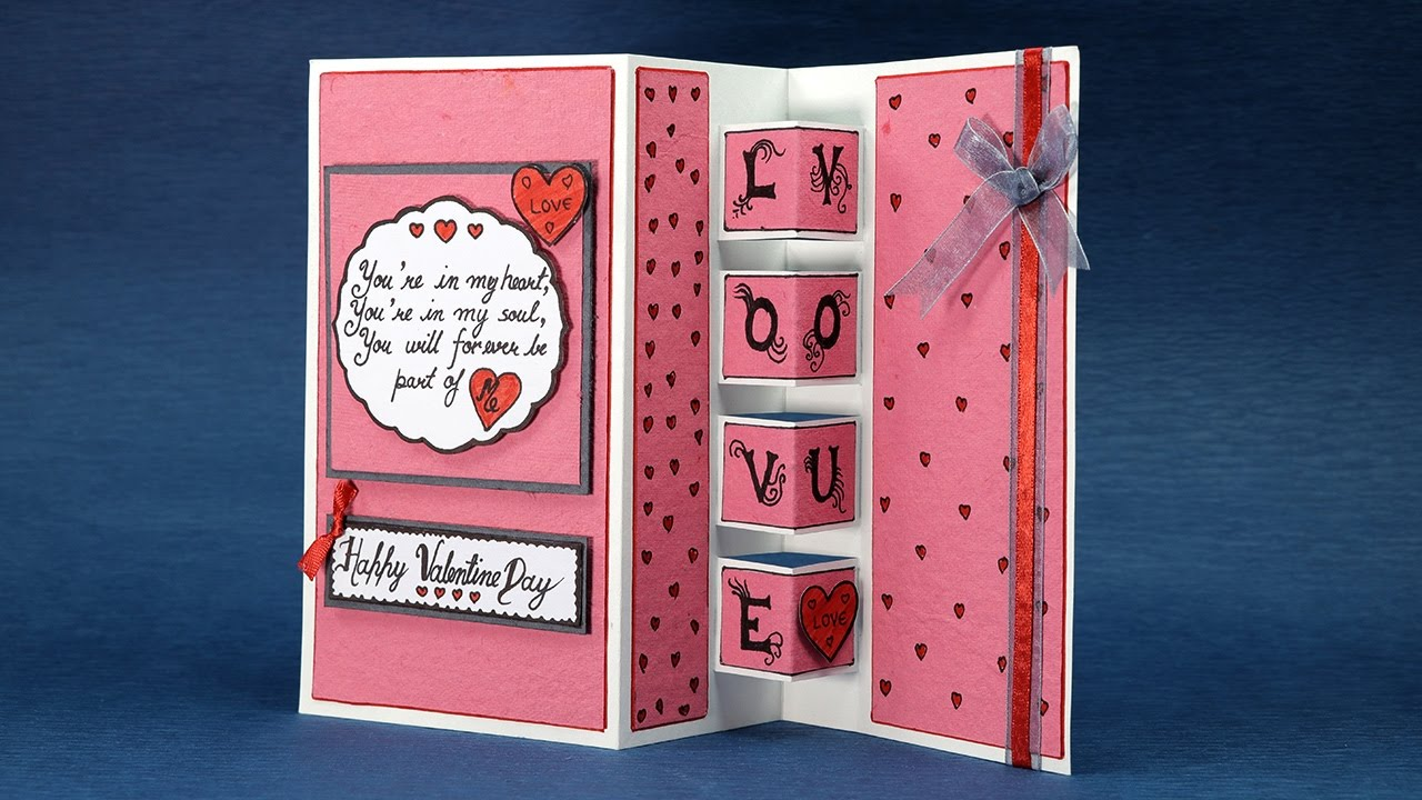 Pop Up Love Card Happy Valentines Day Card Step By Step Tutorial