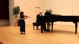 Indian Hill Music - String Recital  - 2/1/14 - Minuet I - Anamika Mani