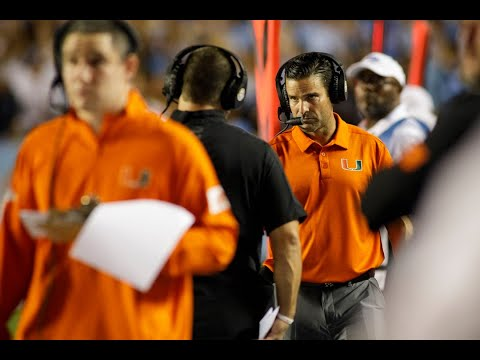 University Of Miami Football Coach Discusses Team's Growing Pains