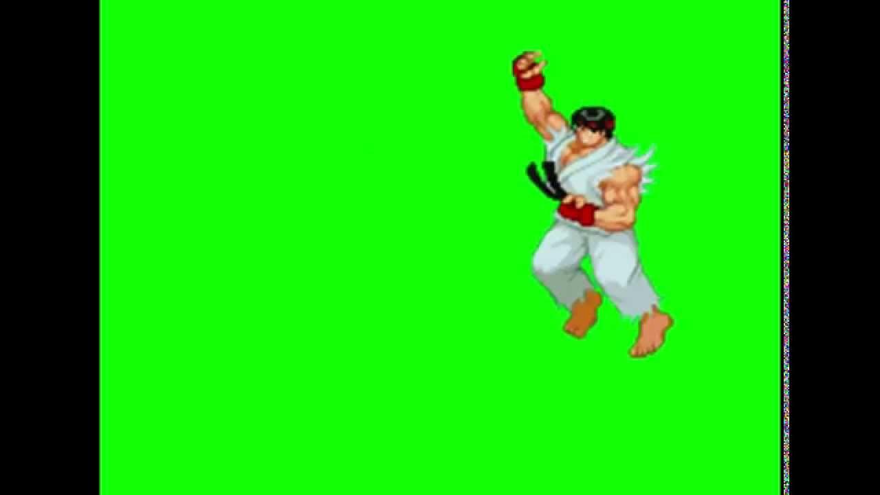 Ryu Green Screen street fighter