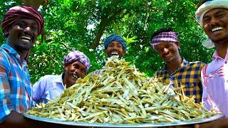 DRY FISHES | Nethili Karuvadu Thokku | Anchovies Dry Fish Recipe Cooking In Village