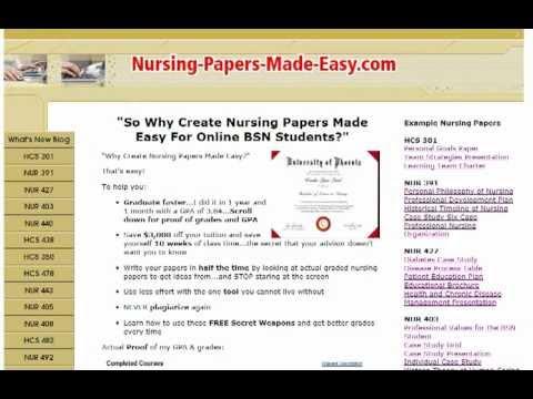 nursing term paper format