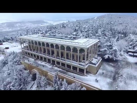 Snow in Tbilisi, Aerial footage By COPTER.GE