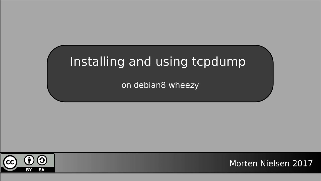 Install and use tcpdump