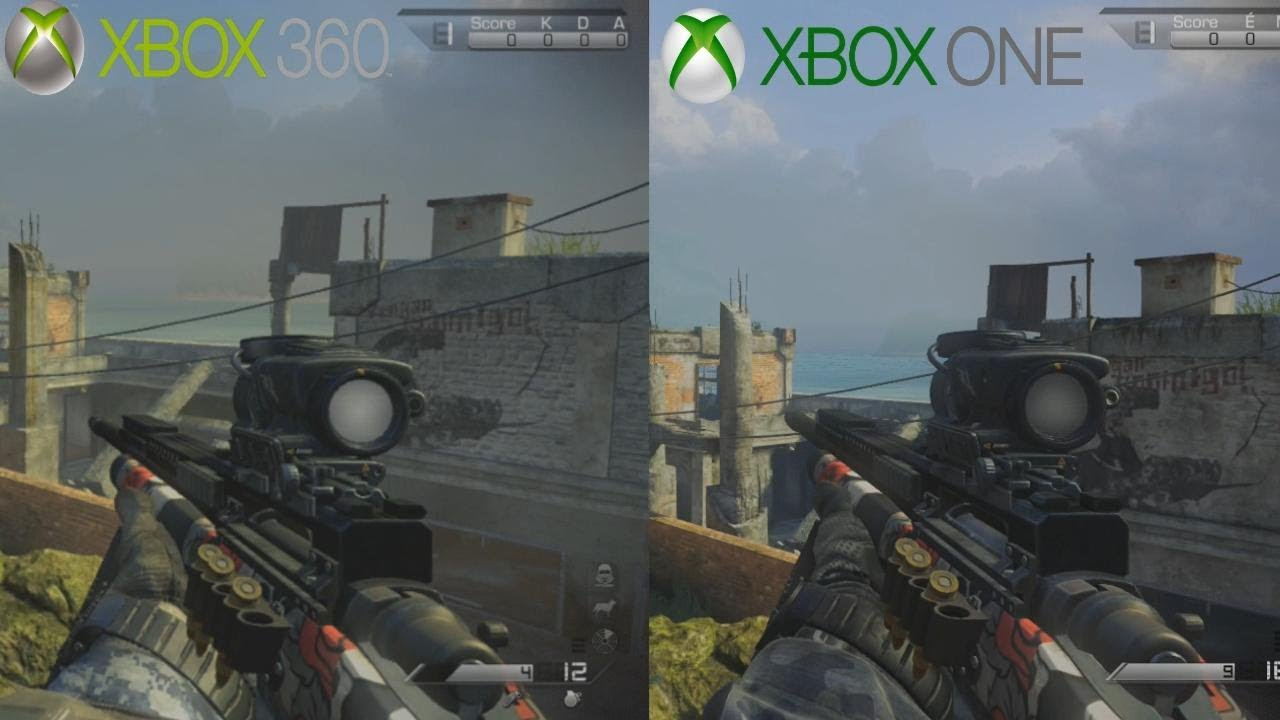 COD GHOSTS Xbox One VS Xbox 360 Les Graphismes Test