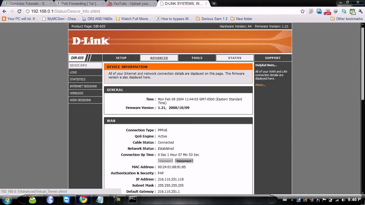 How To Port Forward A D Link Router Youtube