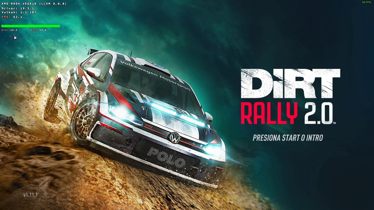 DirtRally 2.0 ArchLinux+Steam+Proton+DXVK