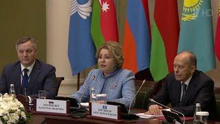 Глава Совфеда призвала к укреплению международного сотрудничества в противодействии терроризму.