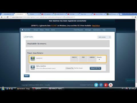 Lightworks v12 Offline activation (Free license)