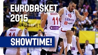 Kalinic Alley-Oop Puts Icing on the Cake for Serbia - EuroBasket 2015