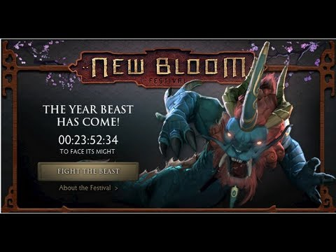 Dota 2 New Bloom Festival Fight The Year Beast Gameplay