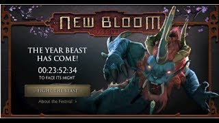 Dota 2 New Bloom Festival - Fight the Year Beast Gameplay Commentary #1 - My first 2 games