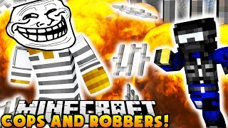 PRANK MINECRAFT COPS AND ROBBERS - PRISON BREAK