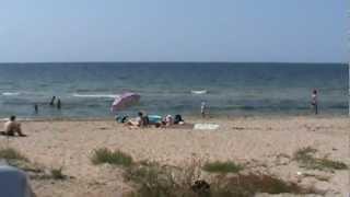 Пляж Заозерное Евпатория Крым 20120825112238(, 2012-08-30T14:01:40.000Z)