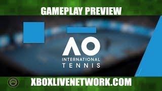 AO International Tennis Gameplay on Xbox One With Deus Legend